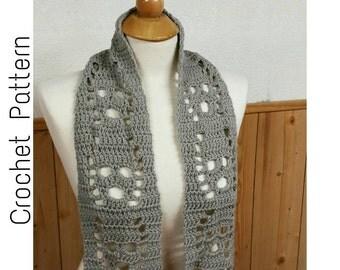 Crochet Pattern | Screaming Souls Scarf | Skull Scarf Crochet Pattern | Lost Souls Scarf Pattern | Easy Crochet Pattern | Digital Download