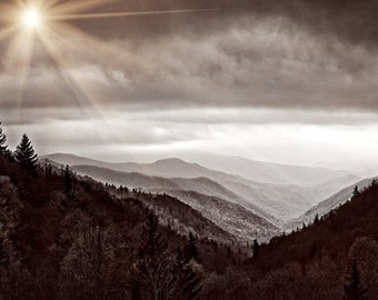 Smoky Mountains in Sepia Fine Art Photo from William Britten