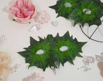 Green Leaf Mask, Ivy Accessory, Garden Fairy Mask, Ivy Cosplay Mask, Ivy Costume Accessory, Wood Nymph Mask, Poison Ivy Mask, Leaf Mask