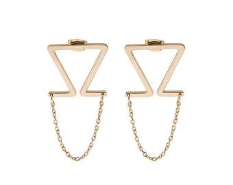ON SALE Geometric Chain Earrings