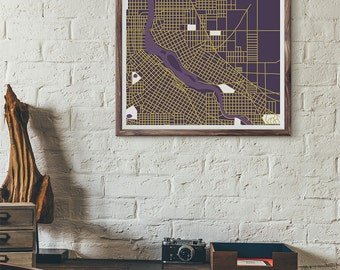 Vikings Edition - Minneapolis Vintage Map print