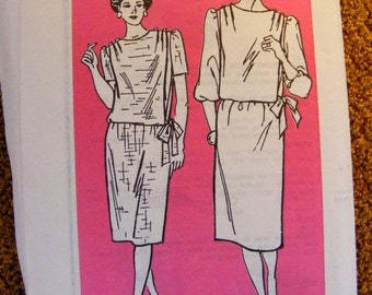 51% OFF 1980's Misses' Loose Fitting Straight Dress Uncut Anne Adams Mail Order Sewing Pattern 4093 Size 12 14 16