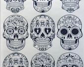 Skulls Edible Wafer Paper/Day of the Dead Skulls