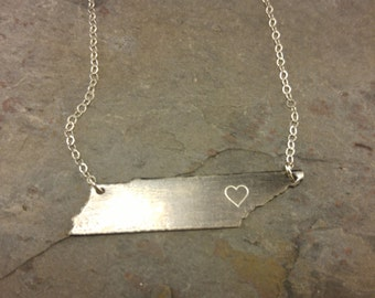 Sterling Silver Tennessee Necklace