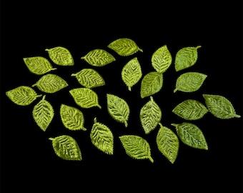 Green Leaves appliqué,
