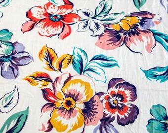 Pure  Floral multicolor print fabric