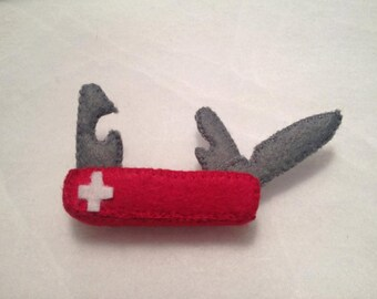 Felt Swiss Army Knife, Pocket Knife