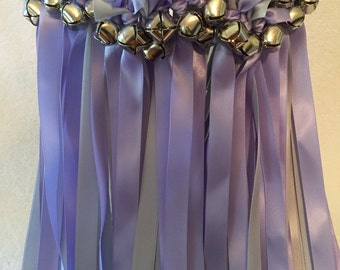 50 Wedding Wands/Wedding Ribbon Wands/Wedding Wand/Iris and Silver w Silver wands/Wedding Streamers
