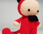 Amigurumi Crochet Little Red Devil