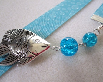 Bubble Grosgrain Ribbon w/fish and bubbles