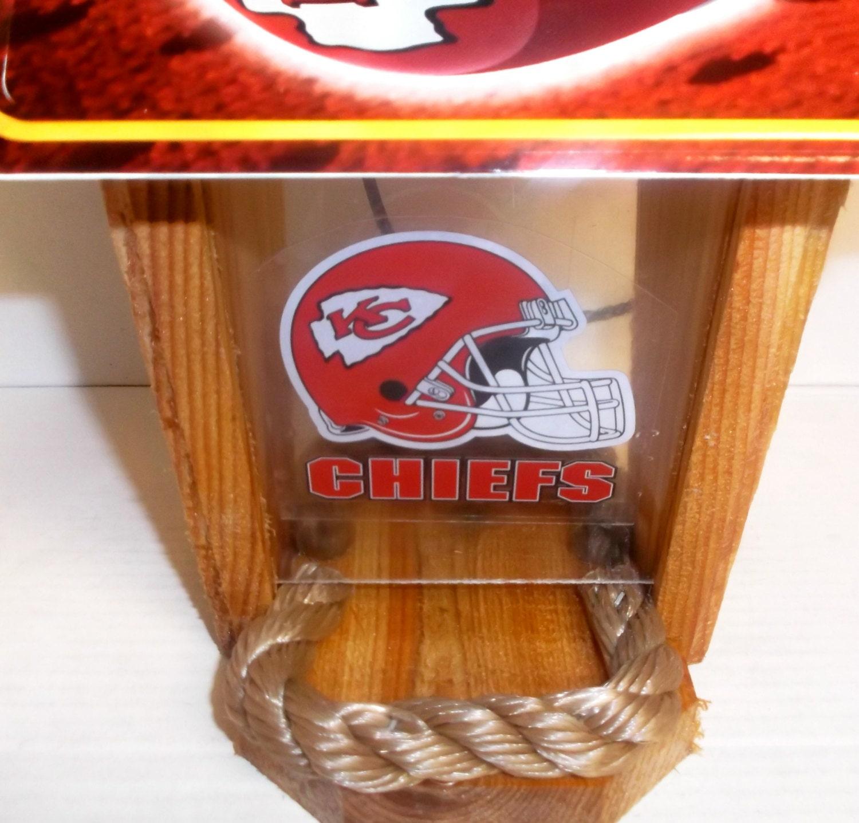 Kansas City Chiefs Two Sided Cedar Bird Feeder