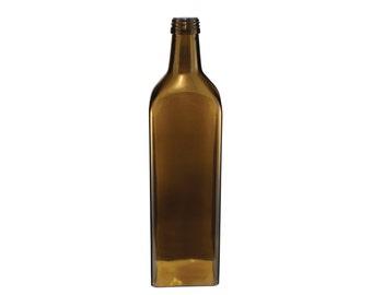 Amber Rectilinear Bottle Pendant Shade
