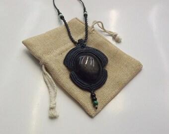 Handmade Necklace - Obsidian
