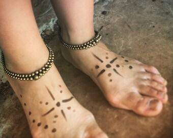 Holiday sale* ankle bracelet bohemian bracelet anklet gipsy  - macrame anklet , tribal ankle india bracelet