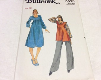 1970's Butteerick Maternity sewing pattern size 12.