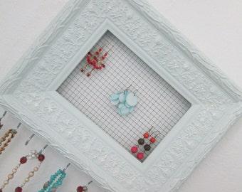 Jewelry Organizer - Jewelry Display - Ornate Repurposed Frame - Jewelry Rack, Wall Jewelry Organizer - Necklace Holder, Earring Holder