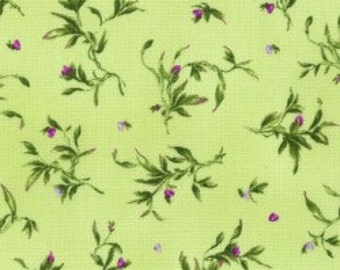 Catalina Ultra Violet- Wispy Leaves, Fabric by the Yard