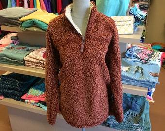 Sherpa Fleece Pullover Live oak Brand