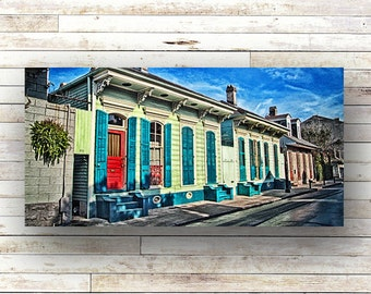 ROWHOUSES - New Orleans art - French Quarter Doors - Architecture - Door Photography