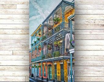 IRONWORKS New Orleans Art - Architecture - Door Photography - French Quarter - NOLA- Wood Panel - Art Panels -Creole Cottages - Iron Gate