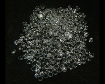 100 PCS Round Machine Cut 1.6 MM. White Sapphire  Loose Gemstone Lab Corundum Lab Created