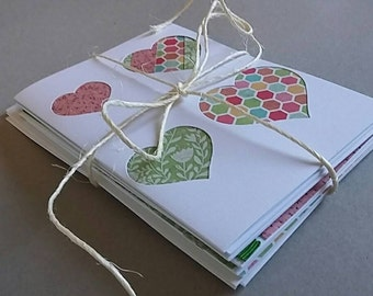 Set of 7 blank greeting cards. Can be used for birthday, gifts, thank yous or any other purpose.