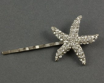 Diamante Starfish Wedding Hair Grip | Seashore Hair Accessories | Wedding Hair Accessories |  Diamante Hair Grip | Sparkly Bridal Hair Grip