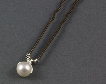 Pearl Wedding Hair Pin | Pearl Hair Accessories | Wedding Hair Accessories |  Pearl Hair Grip | Pearl Hair Clip | Pearl Bridal Hair Pin