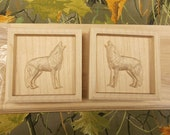 Pair of Wolf Corner Block...