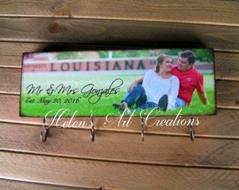 Key Holder, Personalized Key Holder, Home Decor, Personalized Gift, Anniversary Gift, Wedding Gift, Key Rack, Office Key Rack, Key Organizer