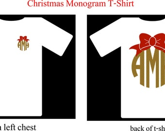 Monogram Shirt, Christmas Monogram Shirt