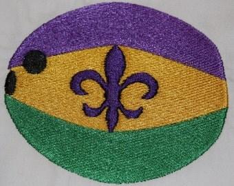 Mardi Gras Coconut machine embroidery design