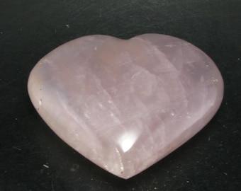 """Rose Quartz Heart From Brazil - 2.8"""""""