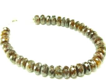 "Rare Zircon Hyacinth Bracelet From Asutralia - 7"""