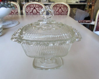 BUTTER or CANDY DISH with Lid