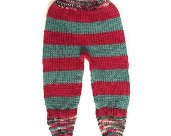 Striped Christmas Footies, NB/Xsmall