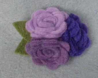 Purple Brooch Made-to-Order, Purple Flower, Purple Felt Flower, Felt Brooch, Flower Pin, Purple Pin, Felt Pin, Purple Jewelry, Felt Jewelry