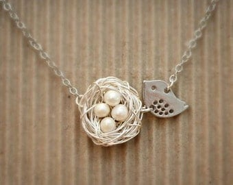 Freshwater Pearl Nest Necklace