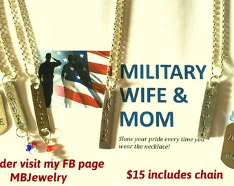 Military Family Personalized Necklace