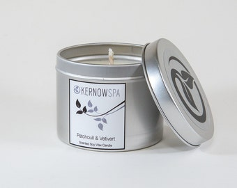 Patchouli & Vetivert Scented Candle Tin