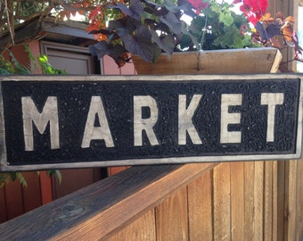 wood sign, market sign, home decor, vintage, distressed, shabby chic, hand painted wood sign