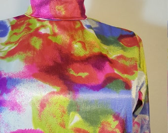 FREE SHIPPING  1960 Mod Psychedelic Blouse