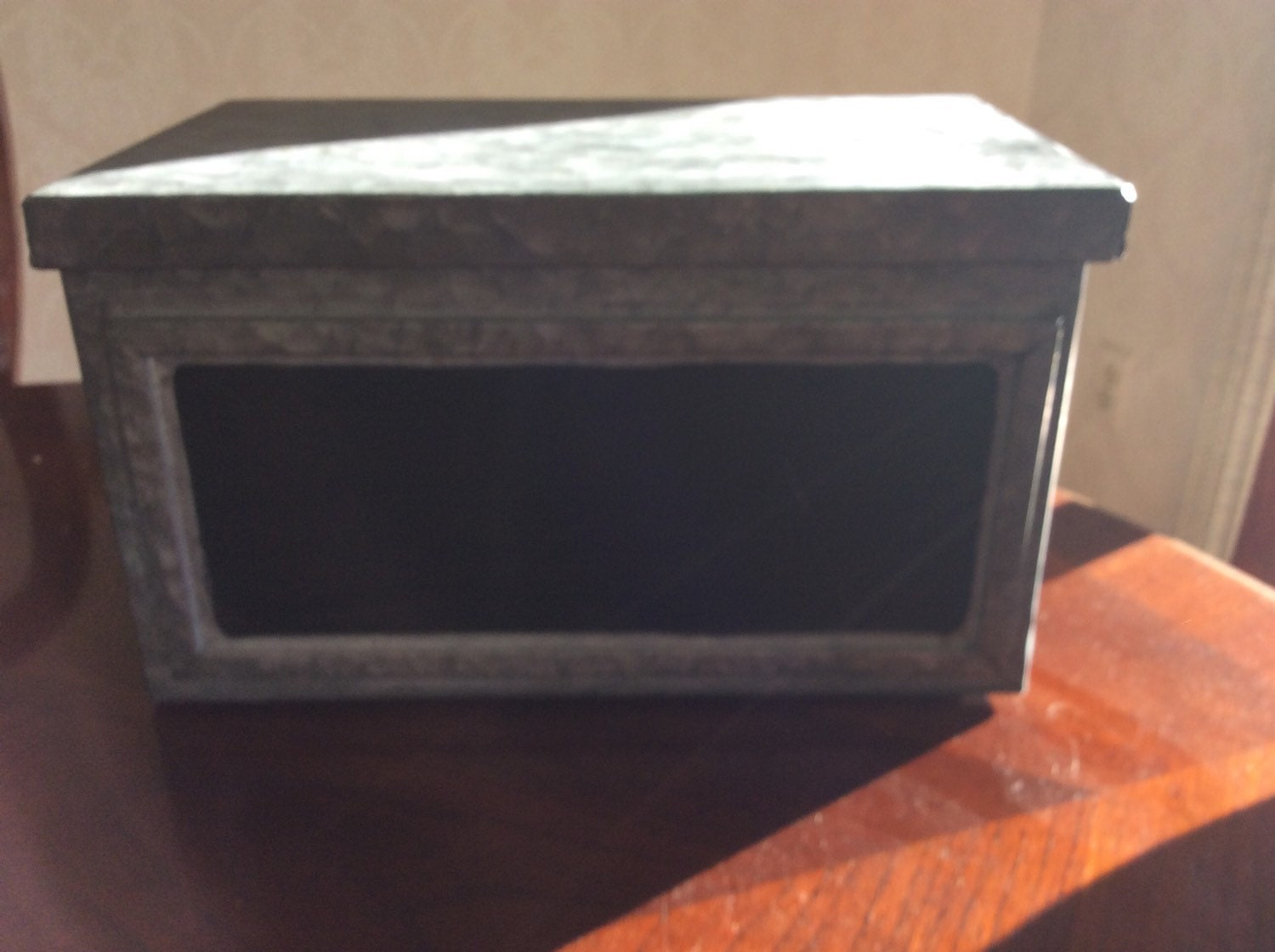 Decorative Metal Boxes With Lids : Rustic galvanized metal box with lid decor