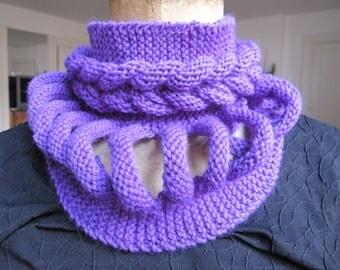 Original Snood, Choker, purple collar with braid