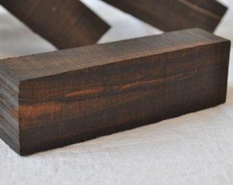 Makassar ebony wood block