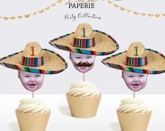 Mexican Sombrero Cupcake Toppers