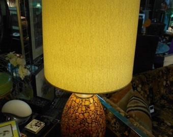 Vintage Italian Ceramic Lamp Gamboni Fantoni Era F.A.I.P. Mid Century Modern