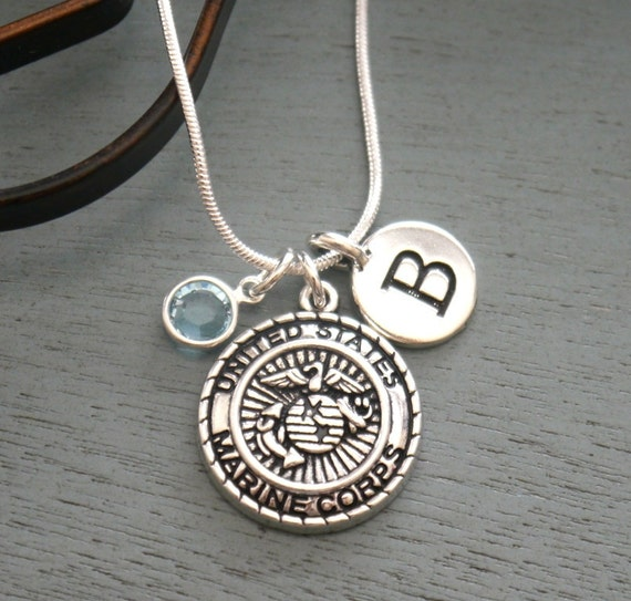 marine corps necklace marine corps jewelry personalized. Black Bedroom Furniture Sets. Home Design Ideas
