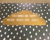 You Make Me Happy 11x14 Canvas