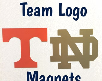 4in Team Logo Inspired Magnet | College Football Magnet | NFL Magnet | MLB Magnet | NHL Magnet | Choose Your Team |